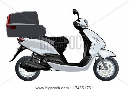 Vector scooter mockup. Available EPS-10 format separated by groups and layers vith transparency effects for one-click repaint