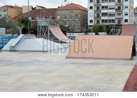 image of a streets slides for skateboarders