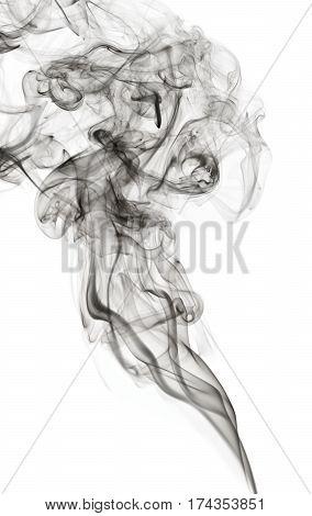 Transparented Black Cloud Of Smoke