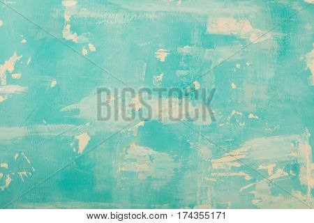 Aquamarine Stone Background With High Resolution. Top View. Copy Space
