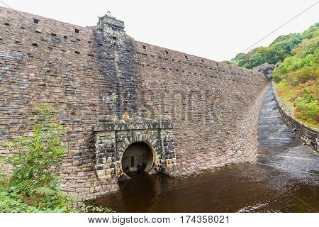 The Pen-y-garreg Reservoir. Elan Valley Powys Wales United Kingdom Europe.