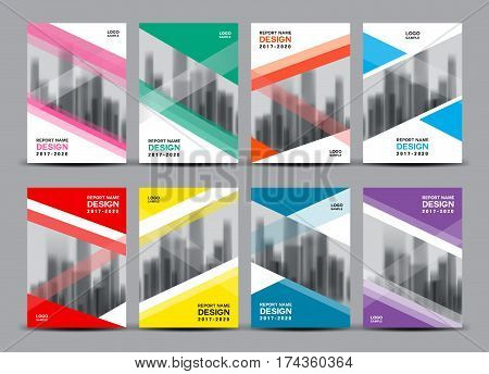 Business vector set, Brochure template layout, cover design, annual report, magazine ads, Book, polygon, flyer in A4, company profile, newsletter, poster, presentation