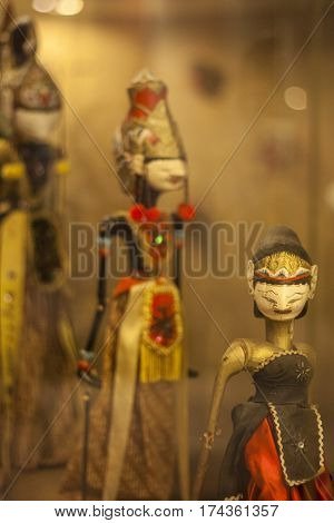 beautiful color of Wayang, the traditional Indonesian shadow puppet