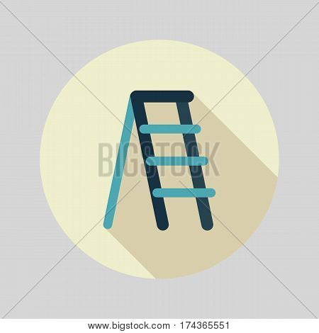 Ladder stepladder stair staircase stairway flat vector icon outline isolated garden eps 10