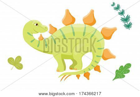Dinosaur cartoon vector illustration. Cartoon dinosaurs cute monster funny animal and prehistoric character cartoon dinosaur. Cartoon comic fantasy dinosaur reptile