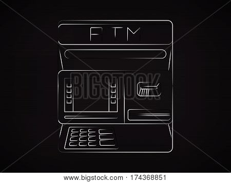 Vector Of Atm Automatic Teller Machine