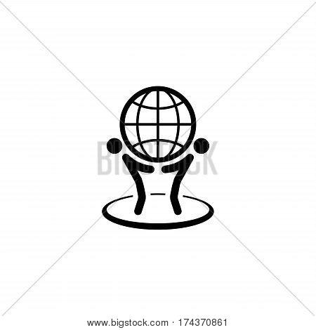 Global Business Icon. Flat Design. Isolated Illustration.