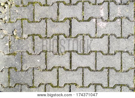 Concrete Road Surfaces With Stone, Brick Block