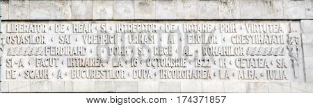 Bucharest, Romania - May 25, 2014: The Triumph Arch. Exterior Detail
