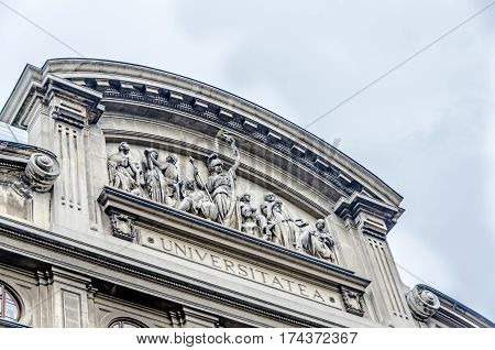 Bucharest, Romania - May 25, 2014: University From Bucharest Founded In 1864 By Alexandru Ioan Cuza.