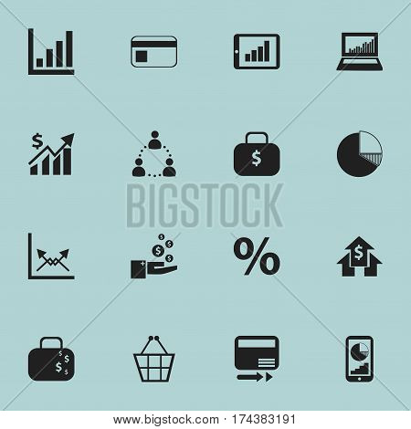 Set Of 16 Editable Statistic Icons. Includes Symbols Such As Statistic, Bank Payment, Bar Chart And More. Can Be Used For Web, Mobile, UI And Infographic Design.
