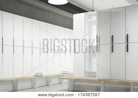 Locker Room With Open Door, Corner