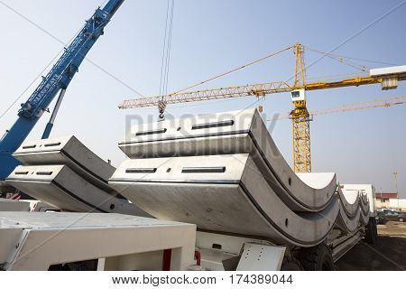 Concrete Elements For Subway Tunnel Crane