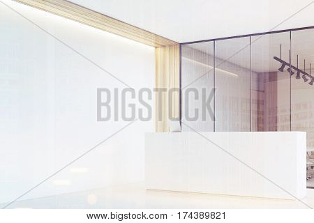 Office Lobby, Clean, Bright, Reception, Side, Tone