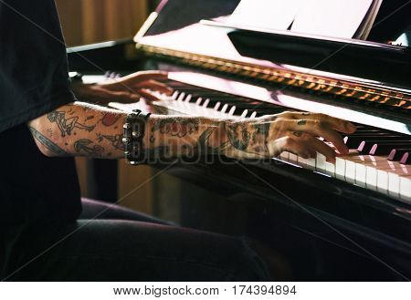 Grand Piano Pianist Musician Performer Melody