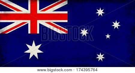 Vintage a national flag of Australia background