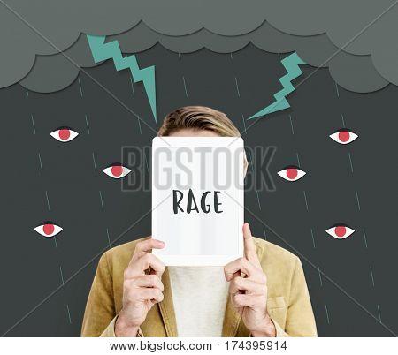 Bolt Rage Madness Rebel Revolution Resentment poster