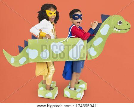 Little Kids Superheroes kids Dinosaur Costume