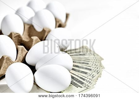 White Eggs With Twenty Dollar Bills