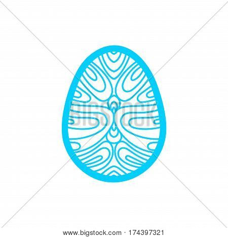 Happy Easter greeting card template in paper cutting style. Laser cutting template for greeting cards. Stencil for paper, plastic, wood, plotter.Abstract silhouette pattern.