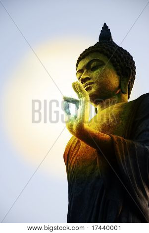 Abstract intellectual light. The media of the Buddha