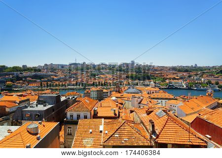 Roofs Of Houses In Porto, Portugal.