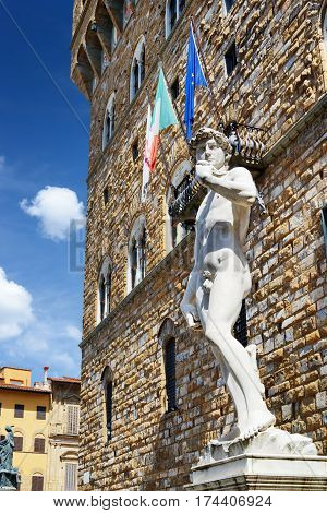 Full-sized Replica Of The Original Statue Of David, Florence