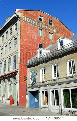 MONTREAL, CANADA - NOV 2, 2012: Maison Cartier is a historic house on Place Jacques-Cartier in old town Montreal, Quebec, Canada.