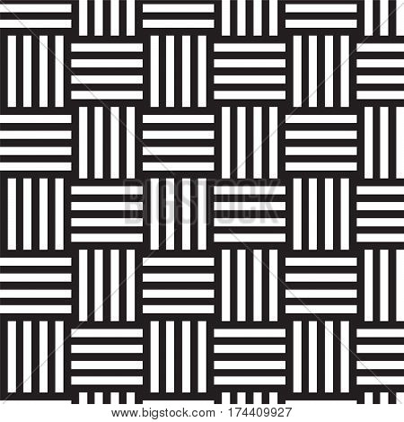 black and white weave pattern background vector illustration image
