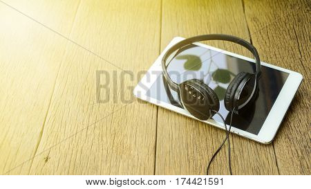 Relax Time With Music Concept.