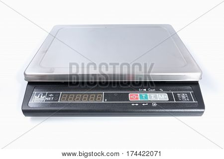 Gomel, Belarus - March 2, 2017: Checkout Scales Board Manufactured By Htc.