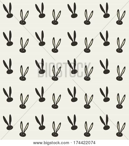 Rabbit pattern. Easter Holiday Greeting card background. Fashion, textile. Rabbit Print. Bunny ears pattern, envelope background template. Rabbit ears trendy pattern design. Spring
