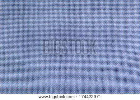 Blue linen fabric for the background. Texture of a natural raw material