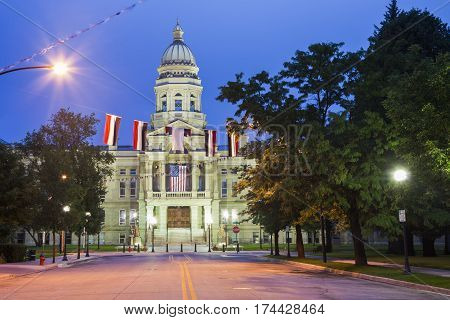 Cheyenne Wyoming - State Capitol Building. Cheyenne Wyoming USA.