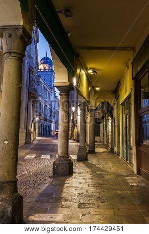 Architecture of Padua at dawn. Padua Veneto Italy