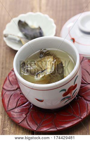 fugu no hirezake, japanese blowfish fins hot sake drink