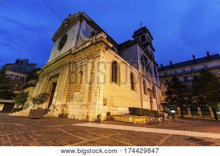 Saint Louis Church in Grenoble. Grenoble Auvergne-Rhone-Alpes France.