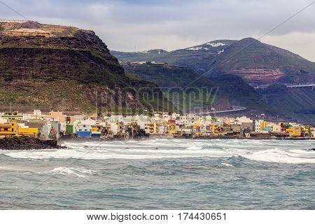 San Felipe panorama. Gran Canaria Canary Islands Spain.