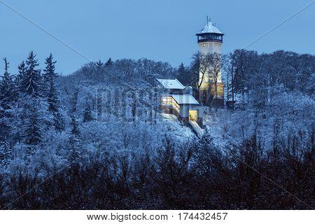 Diana Tower in Karlovy Vary. Karlovy Vary (Carlsbad) Bohemia Czech Republic.