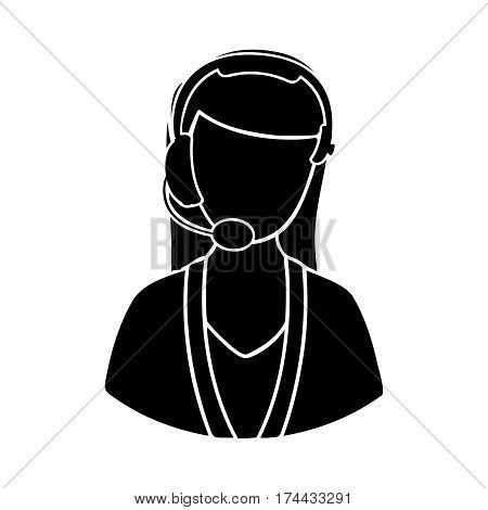 black man techical woman customer support, vector illustraction design