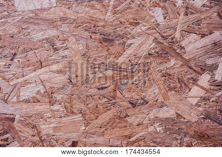 OSB Texture of small particles of wood