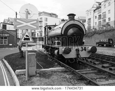 Bristol Harbour Old Trains In Bristol In Black And White