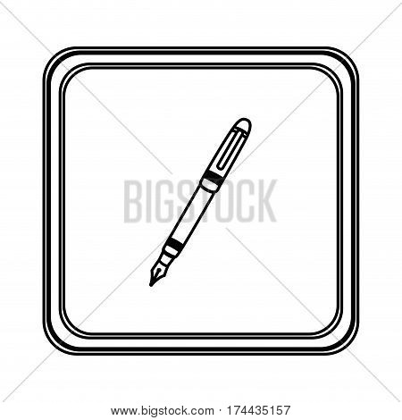 figure emblem ballpoint icon, vector illustraction design image