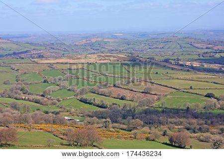 view across Dartmoor from King Tor, Devon