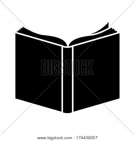 black book open icon, vector illustraction design image