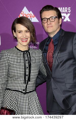 LOS ANGELES - MAR 1:  Sarah Paulson, Jason Butler Harner at the
