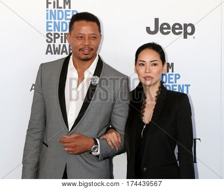 LOS ANGELES - FEB 25:  Terrence Howard, guest at the 32nd Annual Film Independent Spirit Awards at Beach on February 25, 2017 in Santa Monica, CA