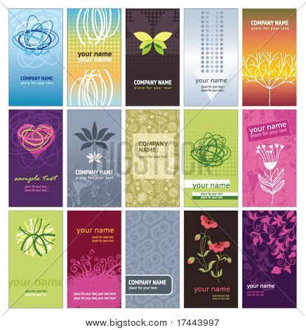 sat of vertical business cards