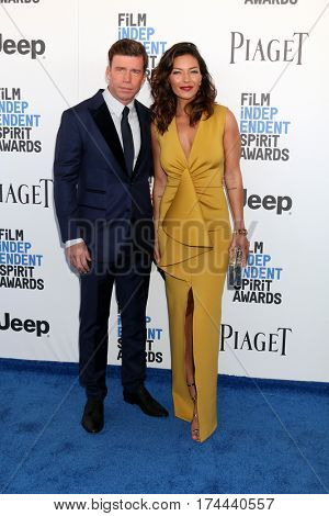 LOS ANGELES - FEB 25:  Taylor Sheridan, guest at the 32nd Annual Film Independent Spirit Awards at Beach on February 25, 2017 in Santa Monica, CA