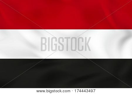 Yemen Waving Flag. Vector Illustration.